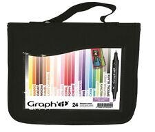 Graph It Marker Pen Set - 24 Colour Wallet - Craft