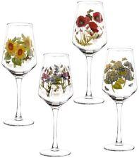Portmeirion Botanic Garden floral wine glass set of 4