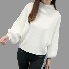 Women Turtleneck Batwing Sleeve Pullovers Knitted Jumper Tops Sweaters AU Stock