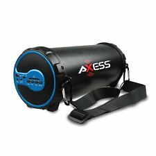 Axess SPBT1038BL Portable Bluetooth Indoor/Outdoor, Hi-Fi Loud Speaker, in Blue