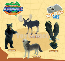 Set of 4 North American Animals 4D 3D Puzzle Egg Realistic Model Kit Toy