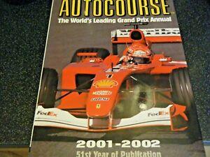 AUTOCOURSE 2001 2002 EXCEPTIONAL MICHAEL SCHUMACHER FERRARI P2001 ARROWS A22 F1