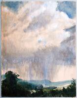 Paul Groß 1873-1942: Augustusburg Sachsen Gewitter Wolken-Himmel Aquarell 1932