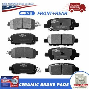 Front /& Rear Ceramic Disc Brake Pads For Nissan Altima  2013 2014 2015 2016 2017