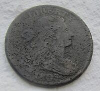 1803 1C BN Draped Bust Large Cent Fine Detail Some Corrosion