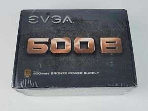 EVGA 600B PC Power Supply 80 plus bronze New Factory Sealed 600 watts