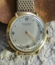 Vintage IWC Schaffhausen 18k Solid Gold Men's Watch, Hand Wind 1960's