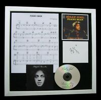 BILLY JOEL+Piano Man+SIGNED+QUALITY FRAMED=100% AUTHENTIC+EXPRESS GLOBAL SHIP