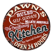 CWKR-0105 DAWN'S KITCHEN Funny Rules Tin Sign Mother's day Gift For Woman