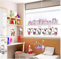 Hello Kitty Children's Background Wall Stickers Decals Decoration Kindergarten