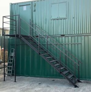 Container Site Office Steel Stair Kit - Refurbished - £950 + Vat