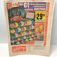 1957 Vintage Imperial Melamine Melmac Confetti Dinnerware Print Advertisement