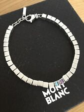 Genuine Montblanc Sterling Silver Cube   Bracelet