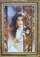 Frau Women Lady Stickpackung Stickbild Stickset Bild sticken mit Perlen 188