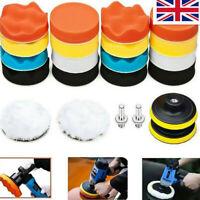 "22X 3"" Buffing Waxing Polishing Sponge Pads Kit Set For Car Polisher Drill M10"