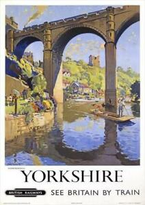 Yorkshire British Railway Illustrated Travel   Vintage Poster   A1, A2, A3