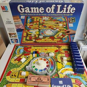 Game Of Life Vintage MB Games 1984 Edition Family Board Game Complete