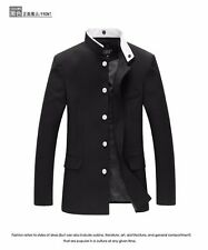 Men Slim Tunic Jacket Single Breasted Blazer Japanese School Uniform Gakuran New
