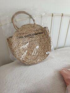 the white company Seagrass Circular Basket Bag