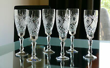 NEMAN,Tall, High Quality 24% Lead CRYSTAL wine glasses/ GOBLETS, Set of 6