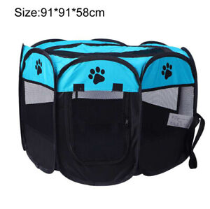 35.8'' Large Oxford cloth pet octagonal fence dog cage cat nest tent
