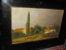 HILLEVELD Adrianus David, *1838 Personen vor Dorflandschaft
