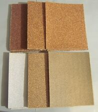 LOT OF 24 PC 1/4 SHEET ASSORTED PALM SANDER SANDPAPER 36 40 50 60 80 100 GRIT