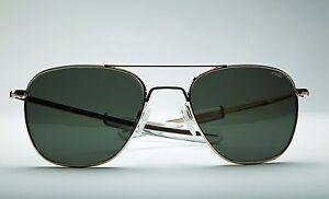 Randolph Aviator Sunglasses 23K Gold Frame USA Made Worn By USAF USN USMC Pilots
