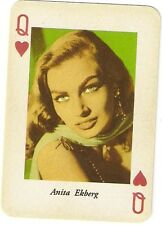 Vintage Moviestars Anita Ekberg Single Card Mint Condition