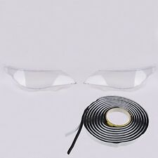 LH RH Headlight Lamp Clear Lens Cover & Glue For BMW 5 E60 E61 M5 525i 528i 530i