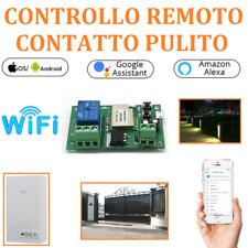 DOMOTICA PULSANTE WIFI CONTATTO PULITO SONOFF COMANDO APP E NEST OROLOGIO SMART