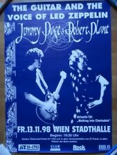 Led Zeppelin, Page / Plant Konzertposter Tourposter Concertposter Wien 13.11.199