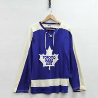 Vintage #1 Toronto Maple Leafs Maska Durene Tie Up Jersey Size Large 70s 80s NHL