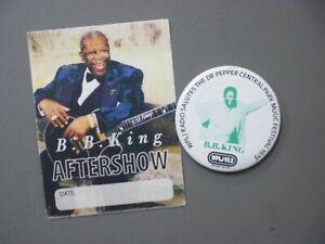 B. B. King WPLJ promo pin Dr Pepper Central Park Fest 1979 + backstage pass !