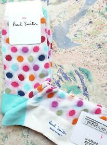 Paul Smith Women Italian Socks Franny Rainbow White Multi K703 OneSize CottonMix