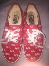 Vans Limited Edition 'love Me' Red Trainers UK Womens Size 5
