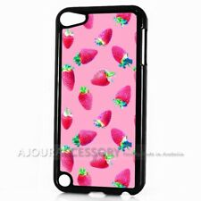 ( For iPod Touch 6 ) Back Case Cover AJH11508 Strawberry