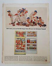 Vintage 1964 Post Refrigerator Advertisement Kelvinator Trimwall Appliance