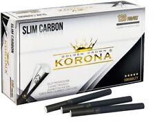 GOLDEN CROWN KORONA Empty Cigarette Filter Tubes SLIM CARBON 5x120 (600ct.)
