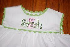 Remember Nguyen girls 18 month dress/top monogrammed Sarah NWT