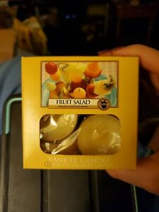 Yankee Candle One Box of 10 SCENTED TEA LIGHT CANDLES FRUIT SALAD