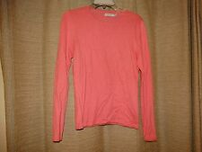 ASHWORTH womens small pink cashmere blend sweater excellent SOFT