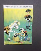Carte double Lucky Luke exposition Musée de Saint-Maur. Villa médicis 1995
