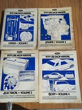 LOT of 4: 1979 Ford Mercury Car Factory Service Manuals Cover Models Pictured
