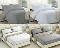 Fitted Sheet/ Duvet Cover & Pillow Case 100% Egyptian Cotton 400tc Bedding Set