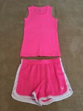 Justice Bright Pink Tank Top and Mesh Athletic Shorts, Size 10