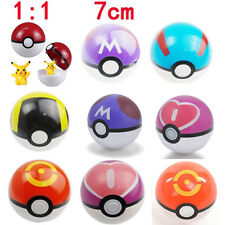 7CM Pokemon Center Pokeball Kids Toys Pop-up Plastic Ball Figure Cosplay NEW