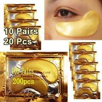1-100Pairs 24k Gold Eye Collagen Aging Wrinkle Under Crystal Gel Patch Anti Mask