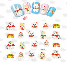 Nail Art Sticker Water Decals Transfer Stickers Christmas Cats & Dogs (BLE2329)