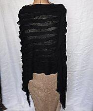 STYLED RETRO ASSYMETRIC LAGENLOOK COSY  BLACK PONCHO GOTH STEAM PUNK HIPPY BOHO